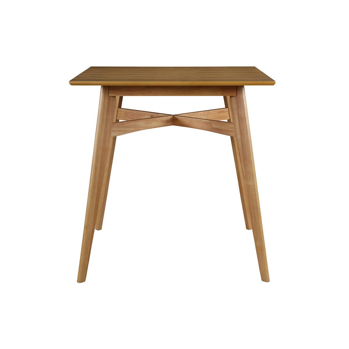 Mesa de bar cuadrada madera clara LEENA