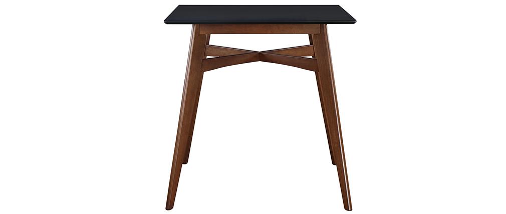 Mesa de bar cuadrada madera tablero negro LEENA