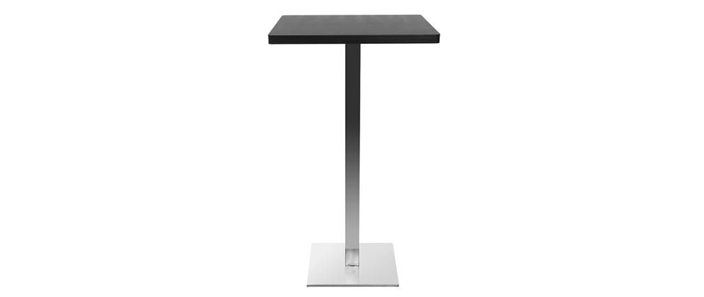 Mesa de bar diseño cuadrado negro pata central JORY