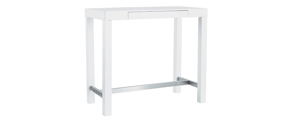 Mesa de bar diseño lacado blanco mate ALEX