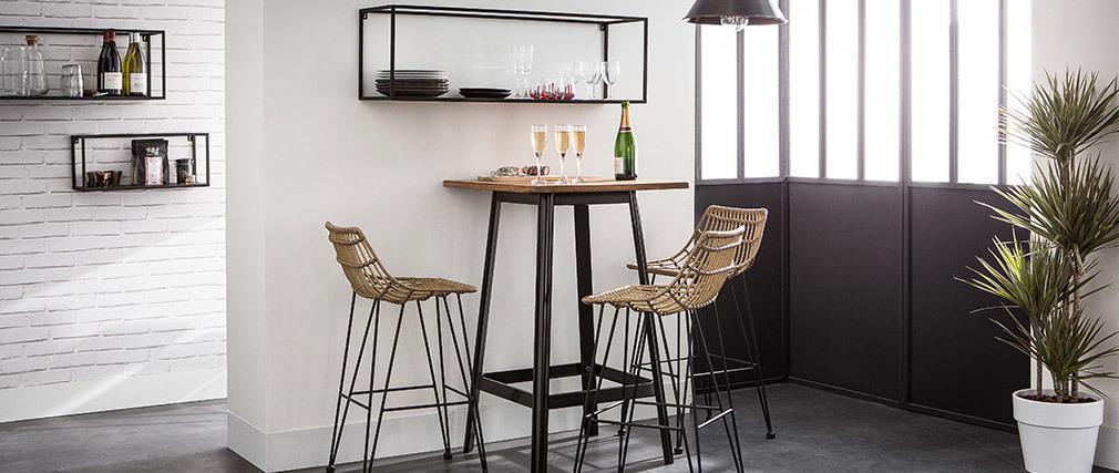 Mesa de bar diseño negra JONES