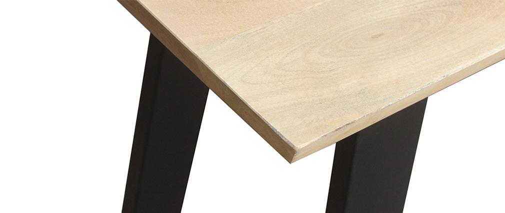Mesa de bar en mango y metal negro L120 cm VIJAY