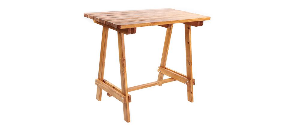 Mesa de bar en pino y teca BELLINI