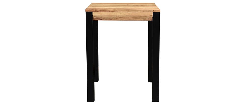 Mesa de bar extensible en acacia y metal L80-135 cm TRAP