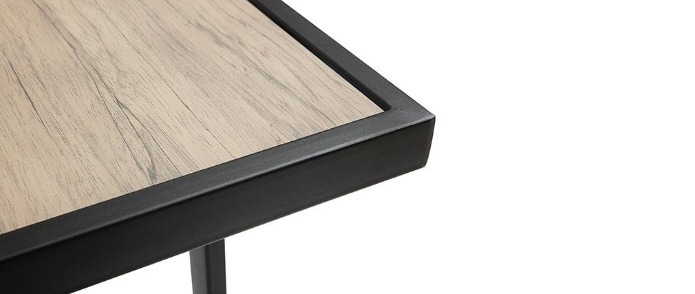 Mesa de bar exterior metal y vidrio decoración madera QUITO