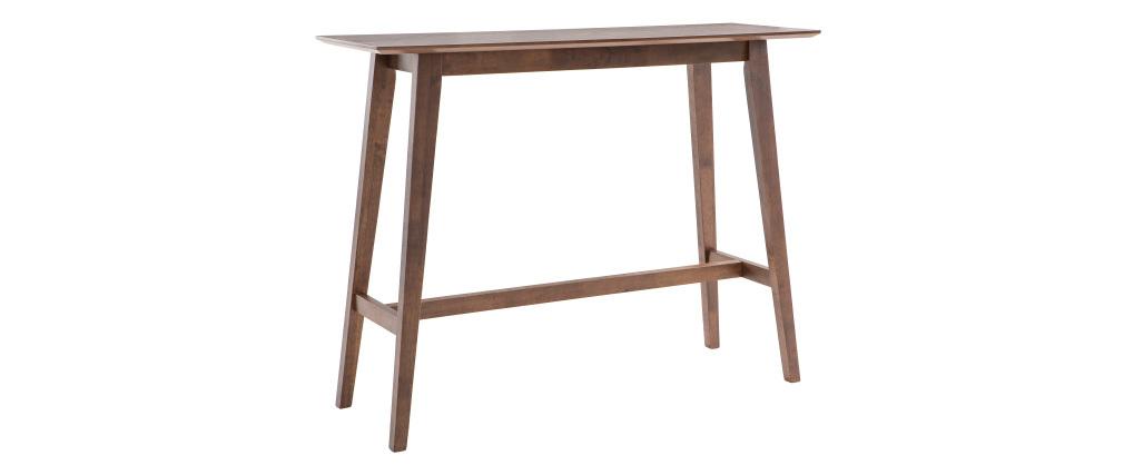 Mesa de bar moderna madera nogal L120 cm RUSSELL