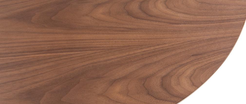Mesa de bar moderna redonda madera nogal DEMORY