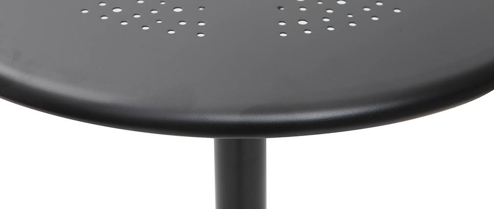 Mesa de bar plegable redonda en metal negro DOTS