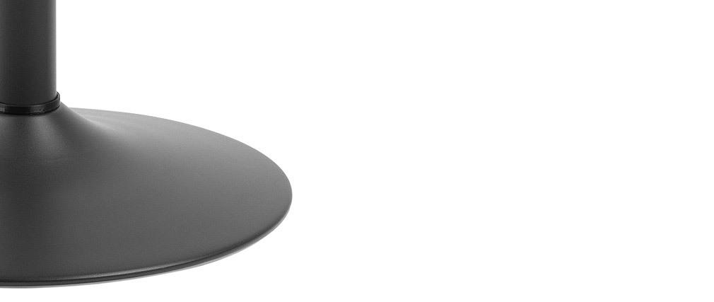 Mesa de bar redonda madera negra y metal D60 cm KALI