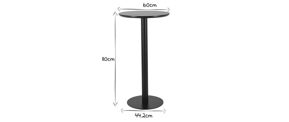 Mesa de bar redonda negra PENCO