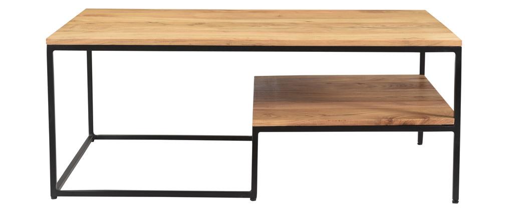 Mesa de centro acacia y metal YONA