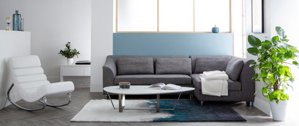 Mesa de centro de diseño blanca MILLA