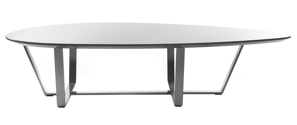 Mesa de centro de diseño gris pardo MILLA