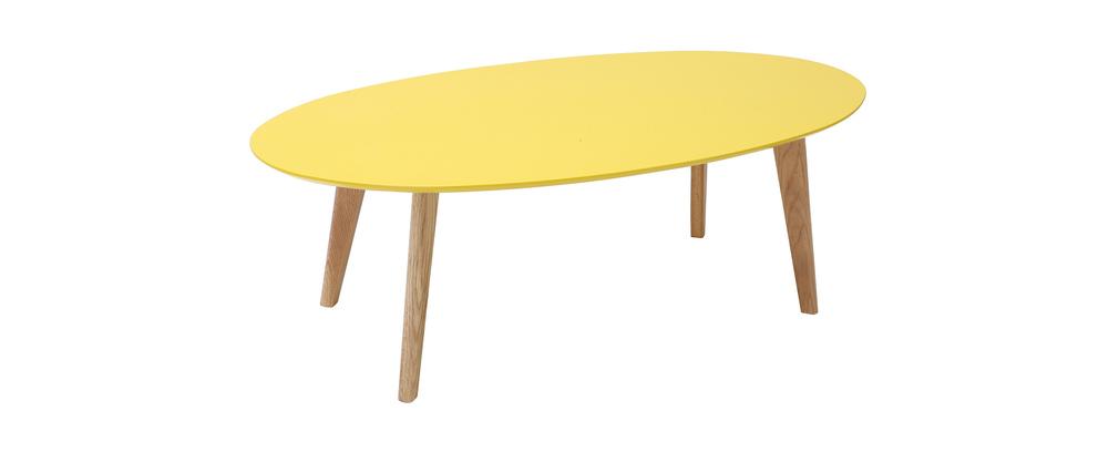 Mesa de centro diseño 120cm amarillo EKKA