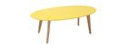 Mesa de centro diseño amarillo L120 cm EKKA