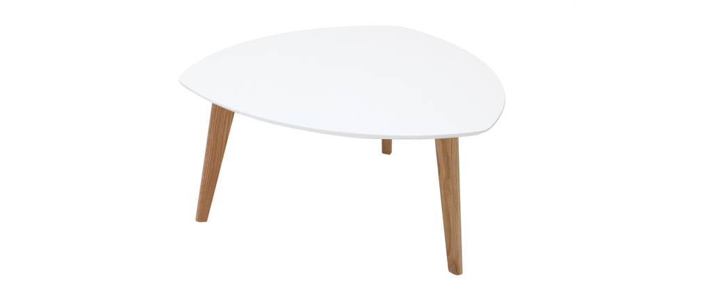 Mesa de centro diseño blanco 80cm EKKA