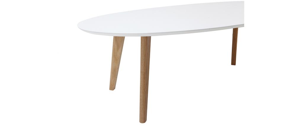Mesa de centro diseño blanco L120 cm EKKA