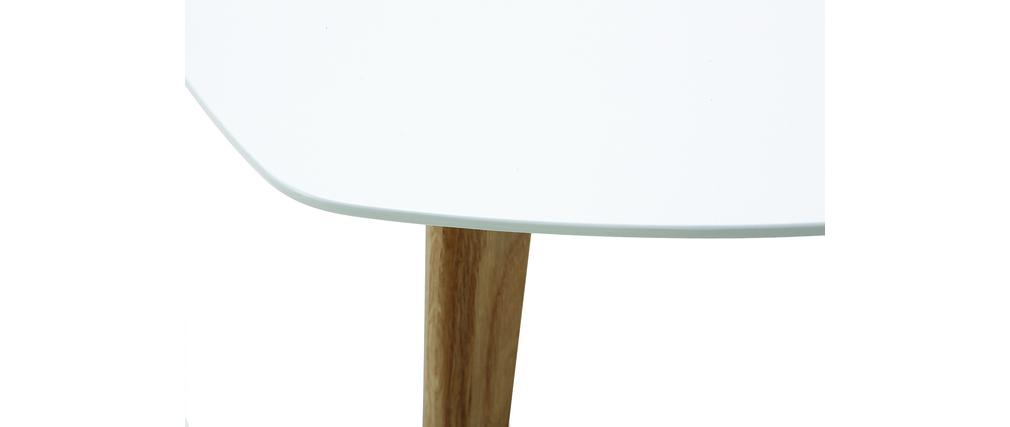 Mesa de centro diseño blanco L80 cm EKKA