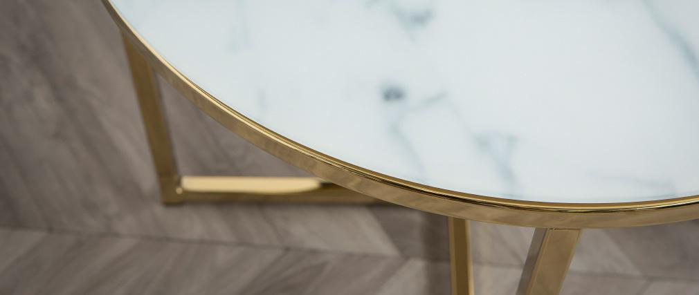 Mesa de centro efecto mármol 50cm SILAS