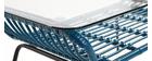 Mesa de centro en cristal y resina azul petróleo TANGO