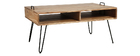 Mesa de centro en madera de acacia y metal negro ALVIN