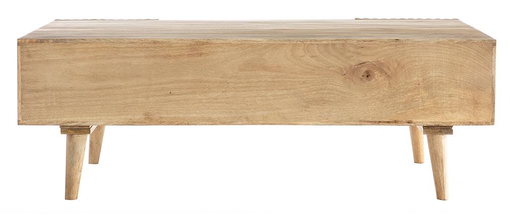 Mesa de centro en mango macizo con puertas correderas ALBA