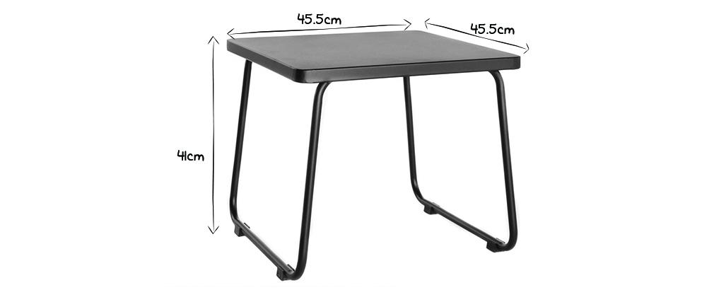 Mesa de centro en metal negro MONACO