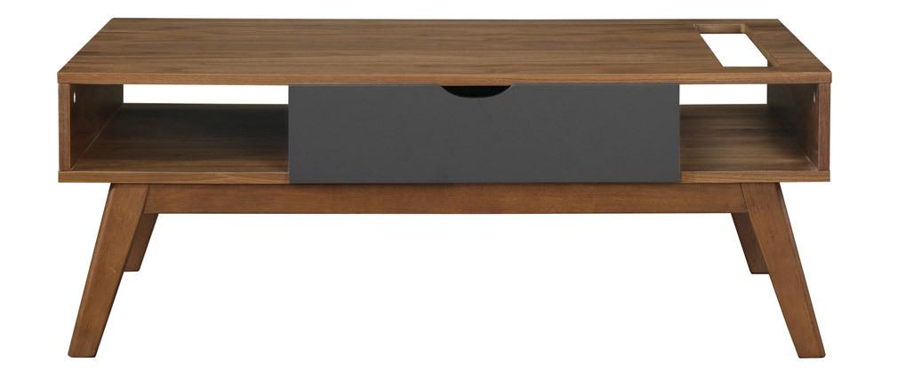 Mesa de centro gris antracita y nogal NEELA