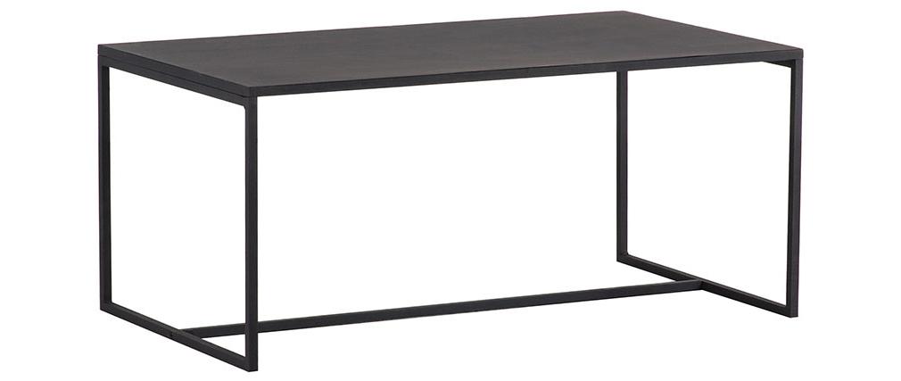 Mesa de centro industrial metal negro KARL