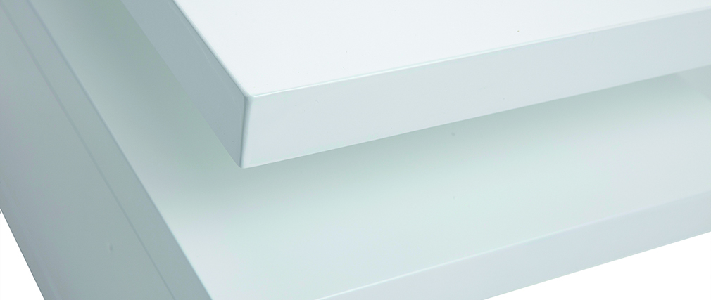 Mesa de centro lacada blanco L100 cm HALTON
