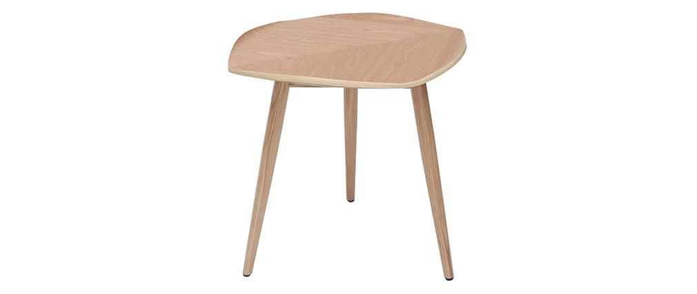 Mesa de centro madera en forma de hoja L60 cm PHYLL