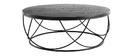 Mesa de centro madera negra y metal negro D80 x A30 cm LACE