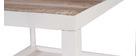 Mesa de centro madera y metal blanco 100 x 60 ROCHELLE