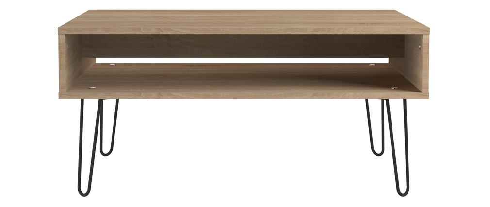 Mesa de centro madera y metal LUMY