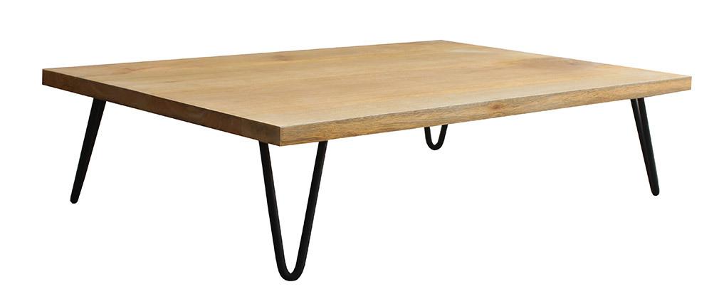 Mesa de centro mango patas horquilla metal VIBES