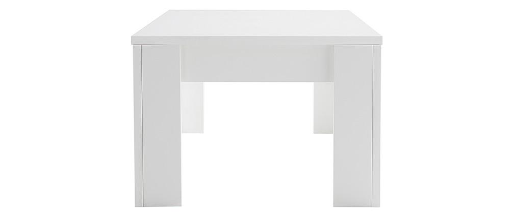 Mesa de centro moderna en madera blanca L122 cm LAND
