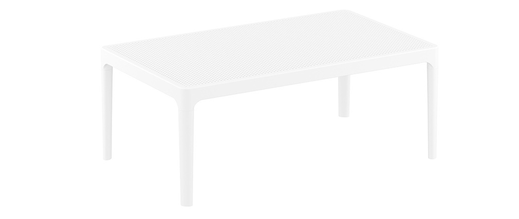 Mesa de centro moderna interior / exterior blanca OSKOL
