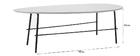 Mesa de centro moderna metal gris 131 cm BLOOM