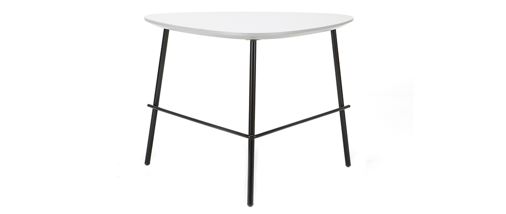 Mesa de centro moderna metal gris 60cm BLOOM