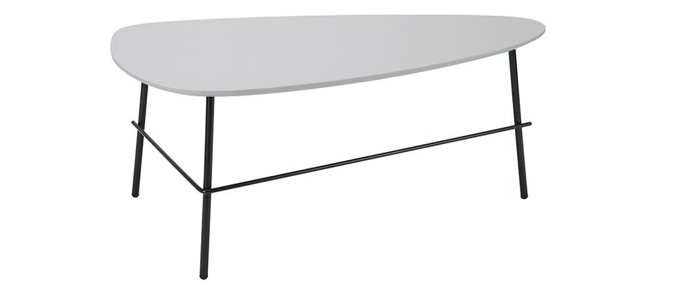 Mesa de centro moderna metal gris 93 cm BLOOM