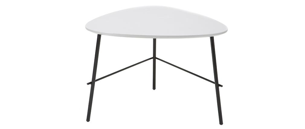 Mesa de centro moderna metal gris L60 cm BLOOM