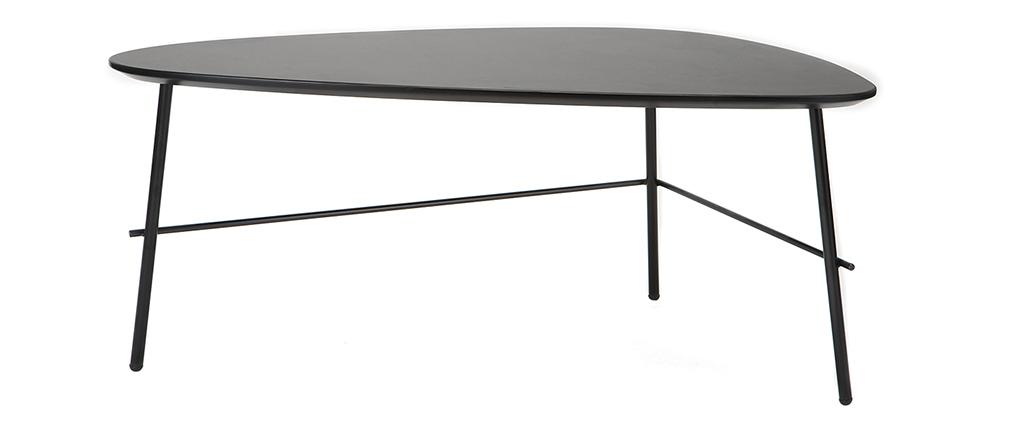 Mesa de centro moderna metal negro 93 cm BLOOM