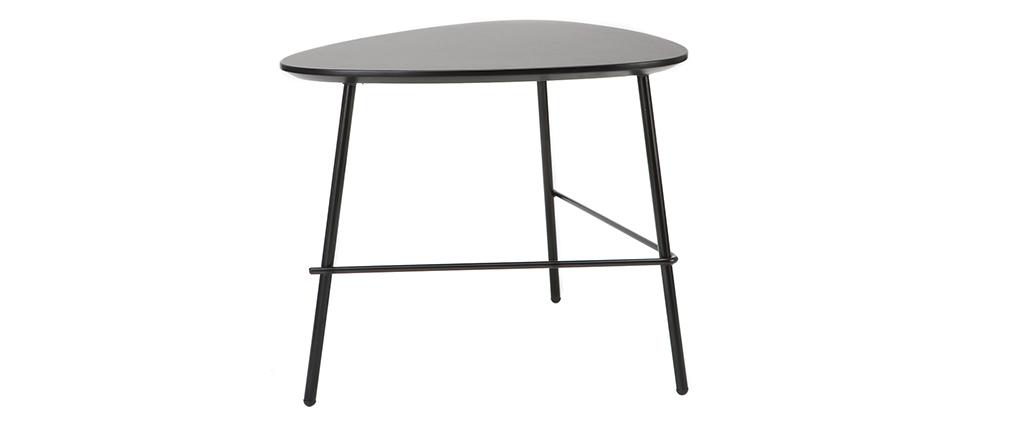 Mesa de centro moderna metal negro L60 cm BLOOM