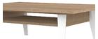 Mesa de centro nórdica madera y blanca ORIGAMI