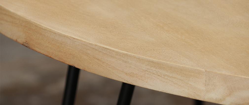 Mesa de centro oval L100 x P55 cm en mango macizo VIBES