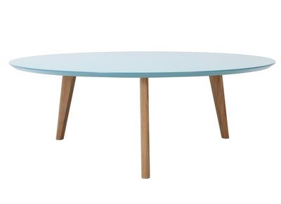 Mesa de centro redonda 100cm azul EKKA