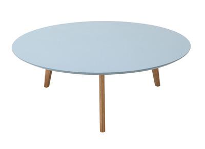 Mesa de centro redonda 100cm gris claro EKKA