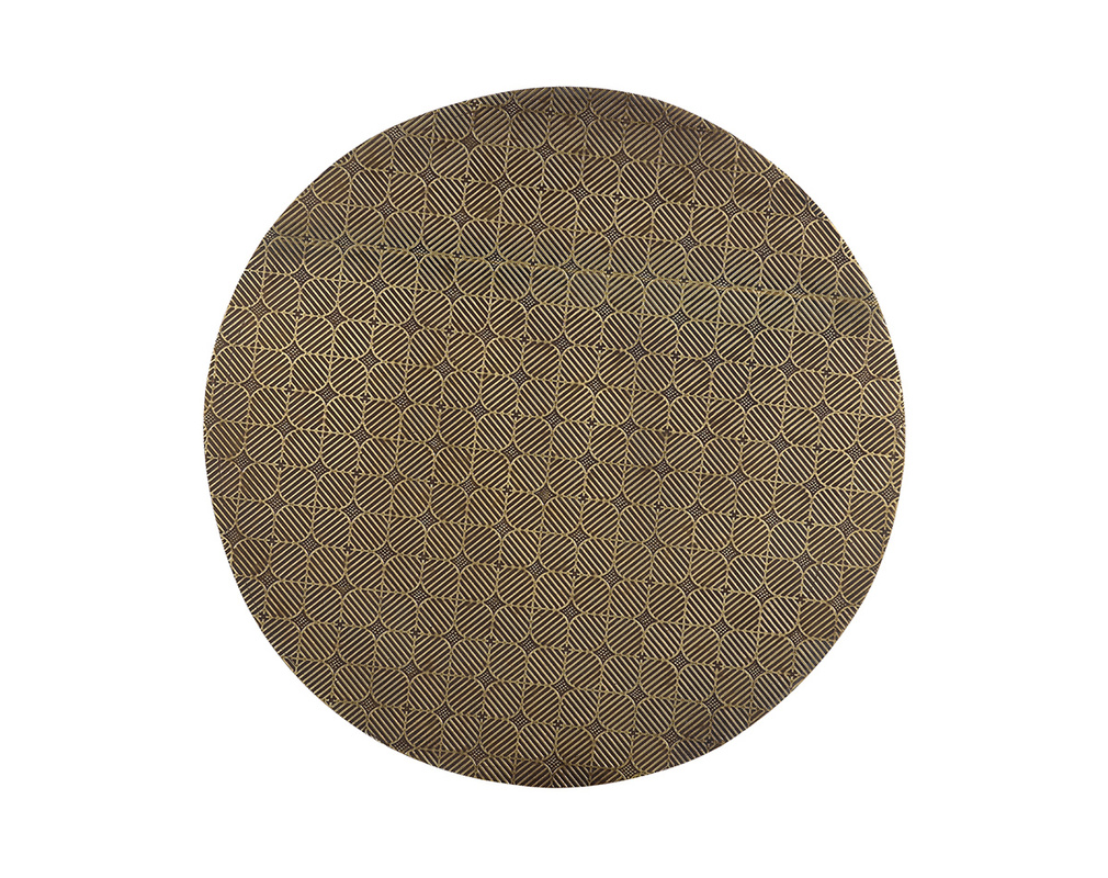 Mesa de centro redonda en latón grabado L45 cm FLOOR
