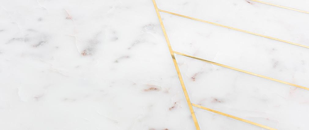 Mesa de centro redonda en mármol blanco SILLON