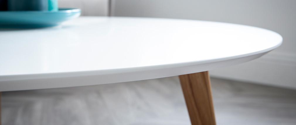 Mesa de centro redonda L100 cm blanco EKKA